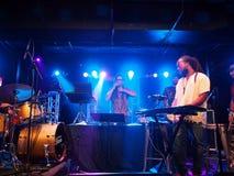 Électro de jazz Activ8 voyage de musique de musicien Jerome James et et Photos stock
