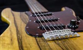 Électro guitare faite sur commande Photographie stock