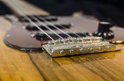 Électro guitare faite sur commande Photo stock