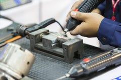 Électro machine de dépôt d'étincelle Photographie stock libre de droits