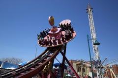 Électro tour de rotation chez Coney Island Luna Park Images stock