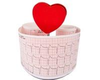 Électrocardiogramme avec un coeur Photos libres de droits