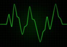 Électrocardiogramme d'ECG Image abstraite d'impulsion Photographie stock