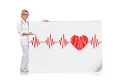 Électrocardiogramme et coeur Photos libres de droits