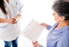 Électrocardiogramme se tenant patient Photographie stock