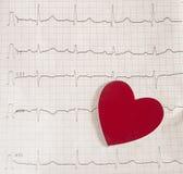 Électrocardiogramme sur background Images stock