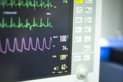 Électrocardiographe dans la chirurgie d'hôpital Photo stock