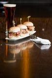 Électrodéposition de style de restaurant d'apéritif Photos stock