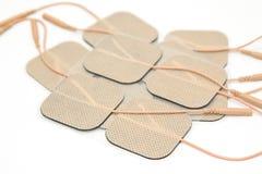 Électrode adhésive, pour l'usage avec l'unité de Dix Photos stock