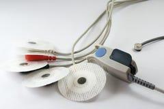 Électrodes de collant d'ECG, SPO2 et capteur thermique Photographie stock libre de droits