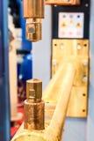 Électrodes de cuivre, organe mobile de la machine Photos stock