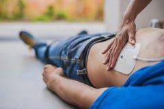 Électrodes de défibrillateur Image stock