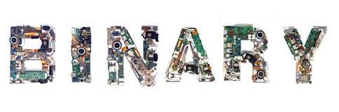 Électronique binaire Image libre de droits