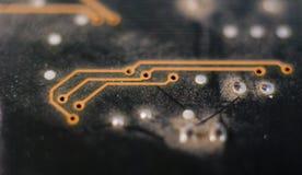 Électronique, circuit, panneau Image stock