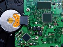 Électronique de l'unité de disque dur Image stock