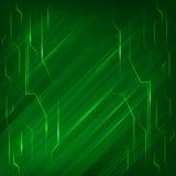 Électronique-page-fond-vert-lumière-lumineux-line Photo libre de droits
