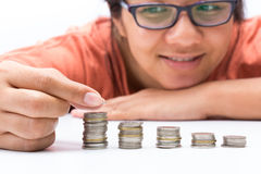Élevage d'argent Photographie stock