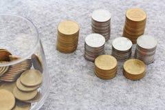 Élevage de pile de pièce de monnaie Photographie stock libre de droits