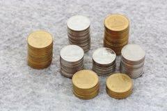 Élevage de pile de pièce de monnaie Image libre de droits