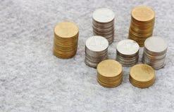 Élevage de pile de pièce de monnaie Photographie stock