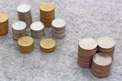 Élevage de pile de pièce de monnaie Photos stock