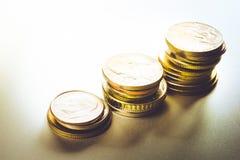 Élevage empilé par argent de pièce de monnaie financier Photographie stock libre de droits