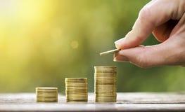 Élevage et épargne d'argent Photo libre de droits