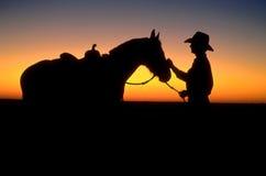 Éleveur de bétail australien Photographie stock