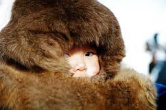 Éleveur de renne de garçon Image libre de droits