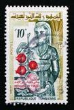 Élevez la femme, produits de Tunisie, la vie dans le serie de la Tunisie, vers 1959 Images libres de droits