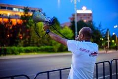 Élevez la voix, Bucarest, Roumanie Photos libres de droits