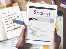 Élevez le concept d'augmentation de croissance de succès de stratégie Images libres de droits