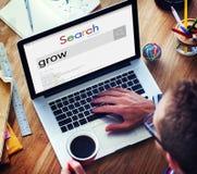 Élevez le concept d'augmentation de croissance de succès de stratégie Photo stock