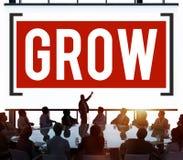 Élevez le concept de changement d'amélioration de développement de croissance Photographie stock