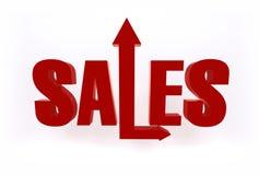 Élevez les ventes Image stock