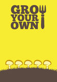 Élevez vos propres poster_Mushrooms Images stock