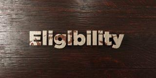 Éligibilité - titre en bois sale sur l'érable - image courante gratuite de redevance rendue par 3D Photographie stock