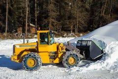 Élimination de neige Photo libre de droits