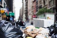 Élimination des déchets à New York Image libre de droits