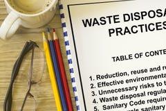 Élimination des déchets Photos libres de droits