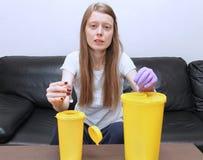 Élimination des déchets médicale Photos libres de droits