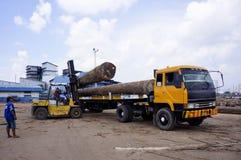 Élimination des faisceaux en bois Image stock
