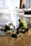 Élimination des fuites de l'eau Images libres de droits