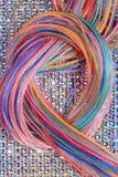 Élingue des chaînes de caractères colorées Images libres de droits