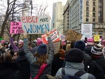 Élisez les femmes, le ` s mars, NYC, NY, Etats-Unis de femmes Images libres de droits