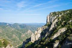 Éloigné croisé de Montserrat Photo stock