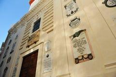 Éloquence de San Felipe Neri, constitution de 1812, Cadix, Espagne Images stock