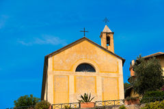 Éloquence de St Erasmo - Bonassola Italie Image stock