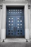 Éloquence de St-Joseph, porte bleue Image libre de droits
