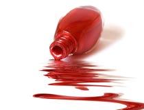 émail au-dessus de blanc rouge Images libres de droits